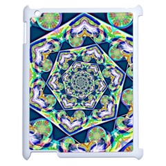 Power Spiral Polygon Blue Green White Apple Ipad 2 Case (white)