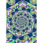 Power Spiral Polygon Blue Green White BOY 3D Greeting Card (7x5) Inside