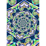 Power Spiral Polygon Blue Green White TAKE CARE 3D Greeting Card (7x5) Inside