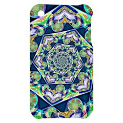 Power Spiral Polygon Blue Green White Apple iPhone 3G/3GS Hardshell Case