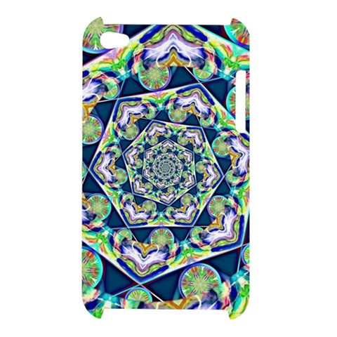 Power Spiral Polygon Blue Green White Apple iPod Touch 4