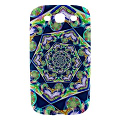 Power Spiral Polygon Blue Green White Samsung Galaxy S III Hardshell Case