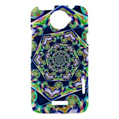 Power Spiral Polygon Blue Green White HTC One X Hardshell Case