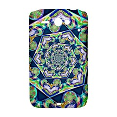 Power Spiral Polygon Blue Green White HTC ChaCha / HTC Status Hardshell Case