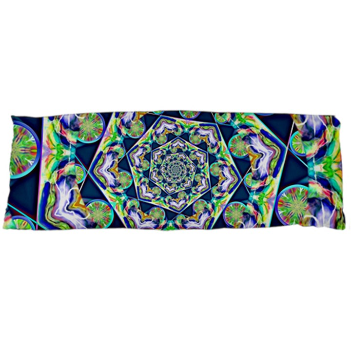 Power Spiral Polygon Blue Green White Body Pillow Case (Dakimakura)