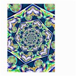 Power Spiral Polygon Blue Green White Small Garden Flag (Two Sides) Back