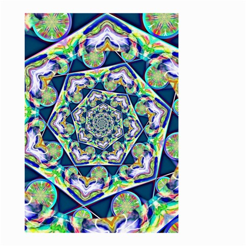 Power Spiral Polygon Blue Green White Large Garden Flag (Two Sides)