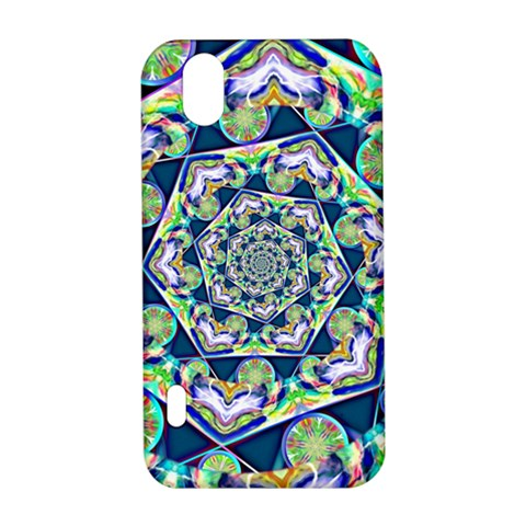 Power Spiral Polygon Blue Green White LG Optimus P970