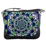 Power Spiral Polygon Blue Green White Messenger Bags Front