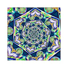 Power Spiral Polygon Blue Green White Acrylic Tangram Puzzle (6  x 6 )