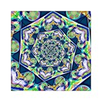Power Spiral Polygon Blue Green White Acrylic Tangram Puzzle (6  x 6 ) Front