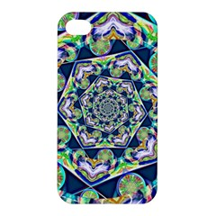 Power Spiral Polygon Blue Green White Apple Iphone 4/4s Premium Hardshell Case