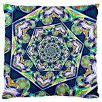 Power Spiral Polygon Blue Green White Large Cushion Case (Two Sides) Front