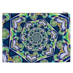 Power Spiral Polygon Blue Green White Cosmetic Bag (XXL)  Back