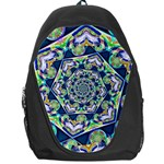 Power Spiral Polygon Blue Green White Backpack Bag Front