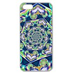 Power Spiral Polygon Blue Green White Apple Seamless iPhone 5 Case (Clear) Front