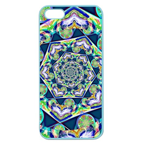 Power Spiral Polygon Blue Green White Apple Seamless iPhone 5 Case (Color)