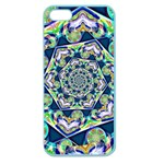 Power Spiral Polygon Blue Green White Apple Seamless iPhone 5 Case (Color) Front