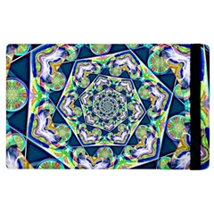 Power Spiral Polygon Blue Green White Apple Ipad 2 Flip Case