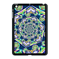 Power Spiral Polygon Blue Green White Apple Ipad Mini Case (black)
