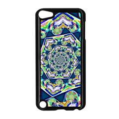 Power Spiral Polygon Blue Green White Apple Ipod Touch 5 Case (black)
