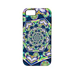 Power Spiral Polygon Blue Green White Apple iPhone 5 Classic Hardshell Case (PC+Silicone)