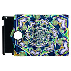 Power Spiral Polygon Blue Green White Apple iPad 2 Flip 360 Case