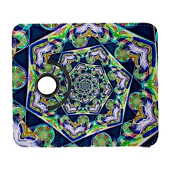 Power Spiral Polygon Blue Green White Samsung Galaxy S  Iii Flip 360 Case