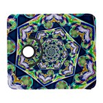 Power Spiral Polygon Blue Green White Samsung Galaxy S  III Flip 360 Case Front