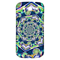 Power Spiral Polygon Blue Green White Samsung Galaxy S3 S III Classic Hardshell Back Case