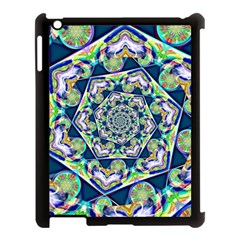 Power Spiral Polygon Blue Green White Apple Ipad 3/4 Case (black)