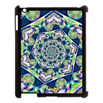 Power Spiral Polygon Blue Green White Apple iPad 3/4 Case (Black) Front