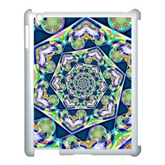 Power Spiral Polygon Blue Green White Apple Ipad 3/4 Case (white)