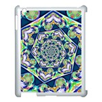 Power Spiral Polygon Blue Green White Apple iPad 3/4 Case (White) Front
