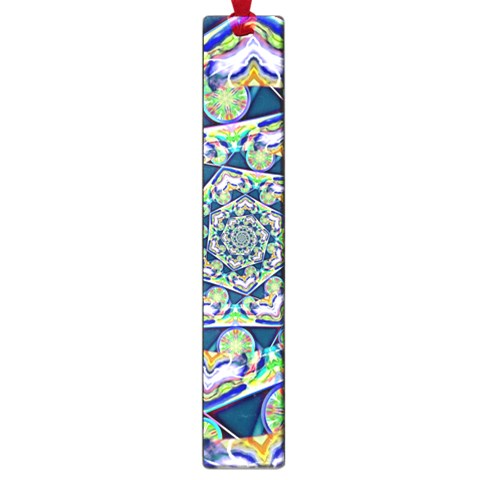 Power Spiral Polygon Blue Green White Large Book Marks