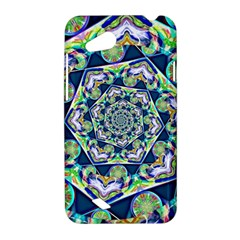 Power Spiral Polygon Blue Green White HTC Desire VC (T328D) Hardshell Case