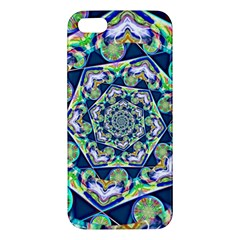 Power Spiral Polygon Blue Green White Apple iPhone 5 Premium Hardshell Case