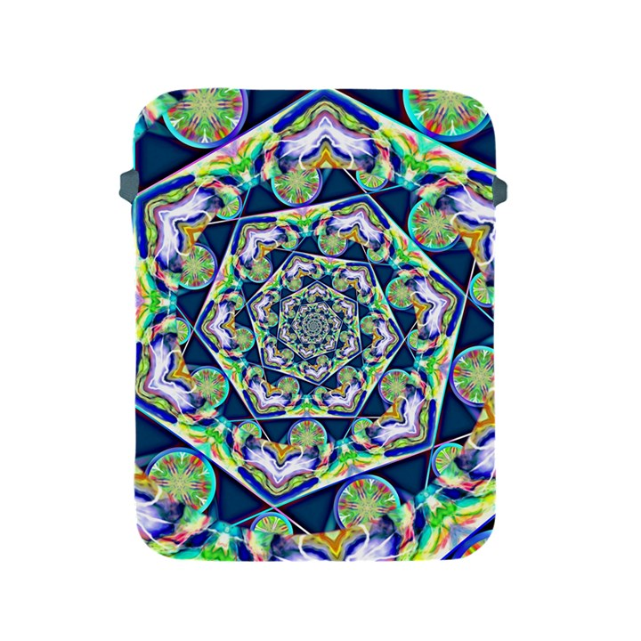 Power Spiral Polygon Blue Green White Apple iPad 2/3/4 Protective Soft Cases