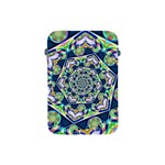 Power Spiral Polygon Blue Green White Apple iPad Mini Protective Soft Cases Front