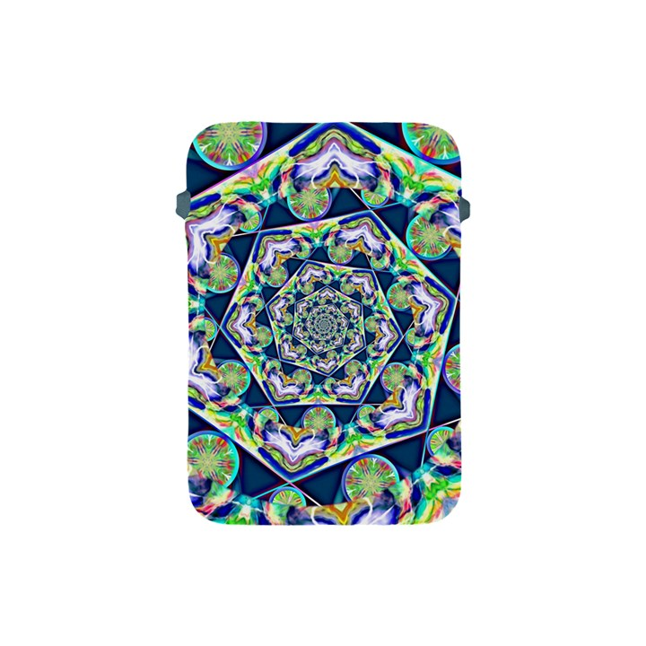 Power Spiral Polygon Blue Green White Apple iPad Mini Protective Soft Cases