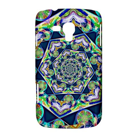 Power Spiral Polygon Blue Green White Samsung Galaxy Duos I8262 Hardshell Case