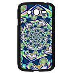 Power Spiral Polygon Blue Green White Samsung Galaxy Grand DUOS I9082 Case (Black) Front