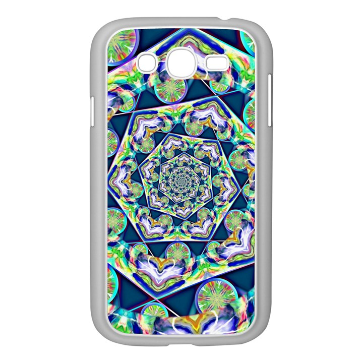 Power Spiral Polygon Blue Green White Samsung Galaxy Grand DUOS I9082 Case (White)