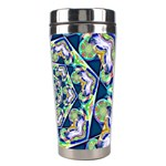 Power Spiral Polygon Blue Green White Stainless Steel Travel Tumblers Right