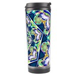 Power Spiral Polygon Blue Green White Travel Tumbler Right