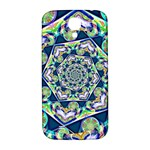 Power Spiral Polygon Blue Green White Samsung Galaxy S4 I9500/I9505  Hardshell Back Case Front