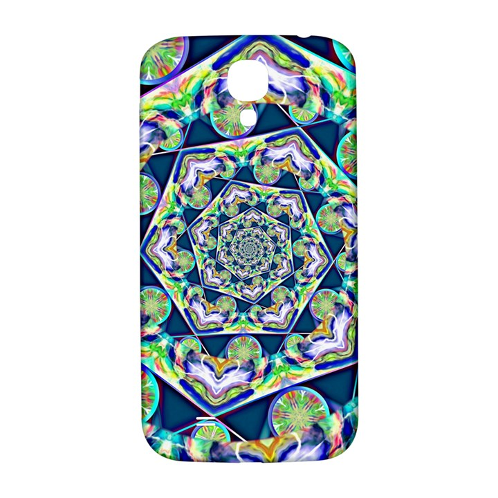 Power Spiral Polygon Blue Green White Samsung Galaxy S4 I9500/I9505  Hardshell Back Case