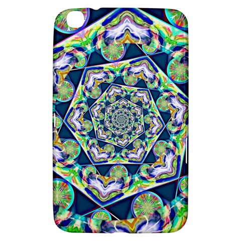 Power Spiral Polygon Blue Green White Samsung Galaxy Tab 3 (8 ) T3100 Hardshell Case