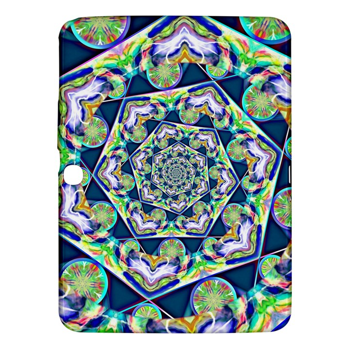 Power Spiral Polygon Blue Green White Samsung Galaxy Tab 3 (10.1 ) P5200 Hardshell Case