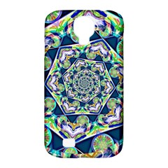 Power Spiral Polygon Blue Green White Samsung Galaxy S4 Classic Hardshell Case (PC+Silicone)